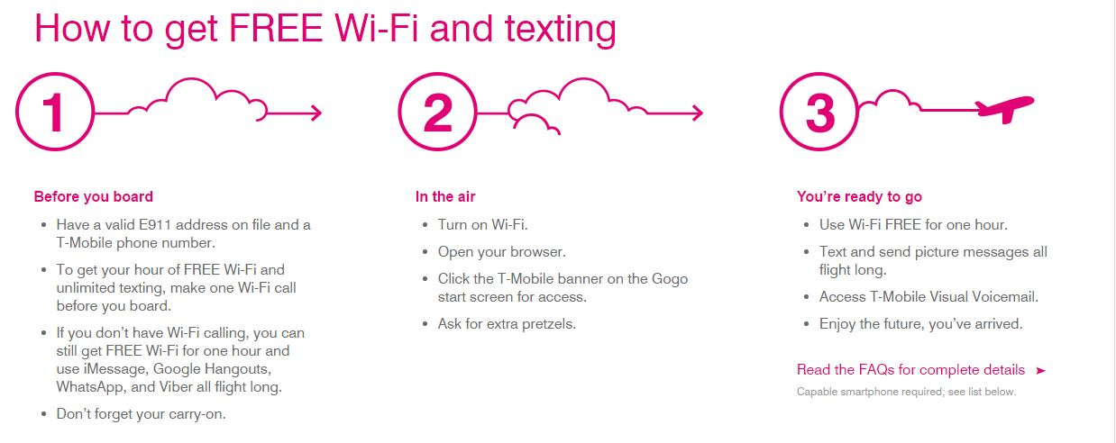Plus Access To T Mobile Visual Voicemail Free Of Charge For The Entire Duration Flight